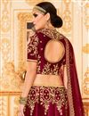 picture of Best Selling Embroidered Art Silk Fancy Wedding Wear Lehenga Choli In Maroon