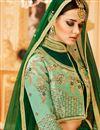 photo of Wedding Special Art Silk Designer Function Wear Sea Green Lehenga Choli