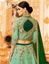 picture of Wedding Special Art Silk Designer Function Wear Sea Green Lehenga Choli
