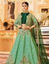 image of Wedding Special Art Silk Designer Function Wear Sea Green Lehenga Choli