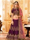 image of Wedding Special Designer Function Wear Lehenga with Heavy Work in Art Silk