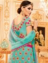 picture of Best Selling Embroidered Wedding Wear Fancy Art Silk Lehenga