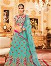 image of Best Selling Embroidered Wedding Wear Fancy Art Silk Lehenga