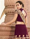 photo of Wedding Special Embroidered Art Silk Wine Sangeet Wear Lehenga Choli With Party Wear Blouse