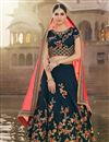 image of Wedding Special Navy Blue Embroidered Banglori Wedding Wear Chaniya Choli With Enigmatic Blouse