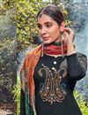 photo of Fancy Black Color Festive Wear Cotton Fabric Palazzo Dress