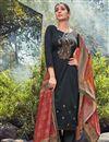 image of Fancy Black Color Festive Wear Cotton Fabric Palazzo Dress