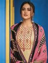 photo of Beige Color Festive Wear Embroidered Straight Cut Suit In Cotton Fabric
