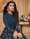 photo of Navy Blue Designer Embroidered Anarkali Salwar Kameez In Georgette Fabric