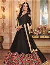image of Embroidery Work On Black Georgette Wedding Wear Anarkali Salwar Suit