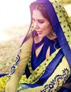 photo of Green Georgette Saree with Art Silk Blouse