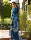 photo of Crepe Fabric Navy Blue Embroidered Palazzo Suit