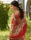 photo of Crepe Fabric Party Wear Straight Cut Salwar Suit In Red With Embroidery Work