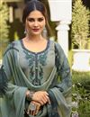photo of Crepe Fabric Festive Wear Patiala Suit With Embroidery Work