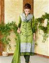 image of Green Color  Lawn Cotton Straight Cut Casual Printed Punjabi Dress