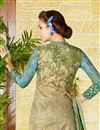 photo of Cotton Printed Straight Cut Beige Color Punjabi Salwar Suit