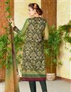 photo of Lawn Cotton Green Color Printed Casual Straight Cut Punjabi Suit