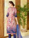 photo of Lawn Cotton Peach Color Straight Cut Printed Punjabi Suit