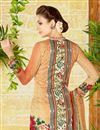 photo of Beige Color  Lawn Cotton Straight Cut Casual Printed Punjabi Dress