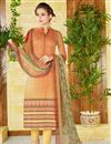 image of Ready To Ship Beige Color  Lawn Cotton Straight Cut Casual Printed Punjabi Dress