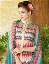 photo of Cream Color  Lawn Cotton Straight Cut Casual Printed Punjabi Dress