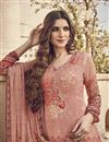 photo of Peach Color Festive Wear Elegant Printed Viscose Fabric Salwar Kameez
