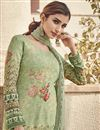 photo of Sea Green Color Festive Wear Elegant Printed Salwar Suit In Viscose Fabric