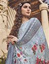 photo of Festive Wear Light Cyan Color Viscose Fabric Elegant Printed Salwar Kameez