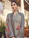 photo of Viscose Fabric Festive Wear Elegant Printed Salwar Suit In Grey Color