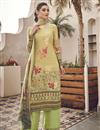 image of Viscose Fabric Festive Wear Elegant Printed Beige Color Salwar Kameez