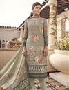 image of Viscose Fabric Festive Wear Elegant Printed Cream Color Salwar Suit
