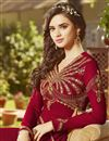 photo of Georgette Function Wear Long Floor Length Red Anarkali Salwar Suit
