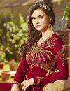 photo of Georgette Function Wear Long Floor Length Red Anarkali Salwar Suit