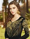 photo of Function Wear Georgette Black Long Floor Length Anarkali Salwar Suit