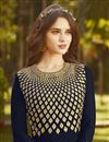 photo of Navy Blue Georgette Function Wear Embroidered Long Anarkali Suit