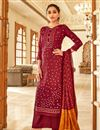 image of Maroon Color Casual Wear Fancy Bandhej Print Jaam Cotton Fabric Palazzo Suit