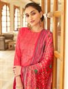 photo of Jaam Cotton Fabric Casual Wear Fancy Bandhej Print Pink Color Palazzo Dress