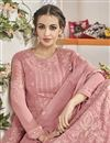 photo of Georgette Function Wear Embroidered Anarkali Kameez In Pink