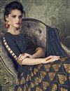 photo of Function Wear Navy Blue Designer Readymade Anarkali Salwar Kameez In Art Silk