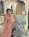 photo of Grey Designer Fancy Sharara Suit In Georgette From Mother Daughter Collection