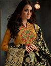 photo of Golden Embellished Designer Anarkali Salwar Kameez