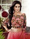 photo of Enlivening Pink Color Designer Chanderi Lehenga With Embroidery Work