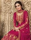 photo of Rani Color Georgette Fabric Fancy Embroidered Function Wear Palazzo Suit