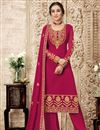 image of Rani Color Georgette Fabric Fancy Embroidered Function Wear Palazzo Suit