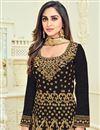 photo of Wedding Special Krystle Dsouza Wedding Function Wear Black Banglori Silk Anarkali Suit