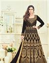 image of Wedding Special Krystle Dsouza Wedding Function Wear Black Banglori Silk Anarkali Suit