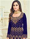 photo of Wedding Special Krystle Dsouza Navy Blue Embellished Long Floor Length Anarkali Dress