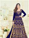 image of Wedding Special Krystle Dsouza Navy Blue Embellished Long Floor Length Anarkali Dress