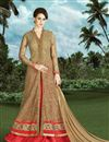 image of Ready To Ship Magnetic Silk Party Wear Sharara Top Lehenga In Red Color