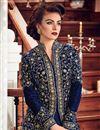 photo of Party Wear Fancy Georgette Floor Length Anarkali Dress In Navy Blue